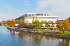 Kennedy Performing Arts Center in de herfst, Washington DC Royalty-vrije Stock Fotografie