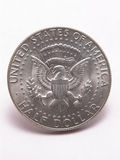 Kennedy Silver Half Dollar Tail Stock Photos