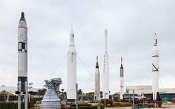 Kennedy Space Cente Rocket Garden Stock Image