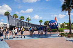 Kennedy Space Center. Cape Canaveral, Florida, USA. Cape Canaveral is a city on Florida`s Atlantic coast. The Kennedy Space Center, north of the city, features a Royalty Free Stock Images