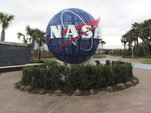 Kennedy Space Center. The entrance at the Kennedy Space Center with NASA logo Stock Images