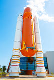 KENNEDY SPACE CENTER, FLORIDA, USA - APRIL 21, 2016: Kennedy Spa. KENNEDY SPACE CENTER, FLORIDA, USA - APRIL 21, 2016: Several rockets are exhibited in the stock photography