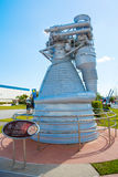 Kennedy Space Center near Cape Canaveral in Florida. KENNEDY SPACE CENTER, FLORIDA, USA - APRIL 21, 2016: Several rockets are exhibited in rocket garden in the Royalty Free Stock Image