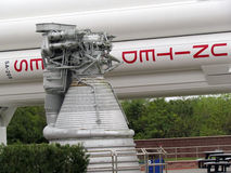 Kennedy Space Center. A rocket engine at the Kennedy Space Center Stock Photos
