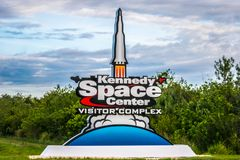 Kennedy Space Center Visitors Complex Entrance stock photo