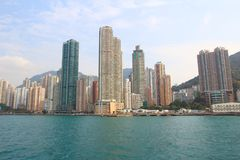 Kennedy Town, Belcher-Baai, Hongkong royalty-vrije stock foto