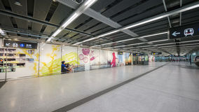 Kennedy Town Station - die Ausdehnung der Insel-Linie zum Westbezirk, Hong Kong Lizenzfreie Stockbilder