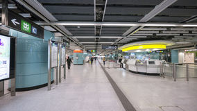 Kennedy Town Station - förlängningen av ölinjen till det västra området, Hong Kong Royaltyfri Fotografi