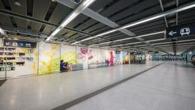 Kennedy Town Station - förlängningen av ölinjen till det västra området, Hong Kong Royaltyfria Bilder