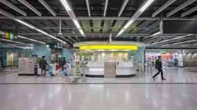 Kennedy Town Station Service Centre - förlängningen av ölinjen till det västra området, Hong Kong Arkivfoto