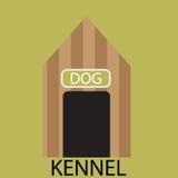 Kennel dog icon flat Royalty Free Stock Photos