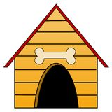Kennel for a dog, illustration Stock Images