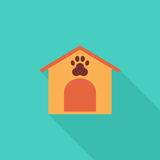 Kennel icon. Flat vector related icon with long shadow for web and mobile applications. It can be used as - logo, pictogram, icon, infographic element. Vector Stock Photos