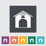 Kennel icon. Flat vector related icon for web and mobile applications. It can be used as - logo, pictogram, icon, infographic element. Vector Illustration Stock Images
