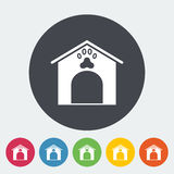 Kennel icon. Flat vector related icon for web and mobile applications. It can be used as - logo, pictogram, icon, infographic element. Vector Illustration Stock Image