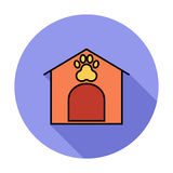 Kennel icon. Flat vector related icon for web and mobile applications. It can be used as - pictogram, icon, infographic element. Vector Illustration Royalty Free Stock Image