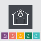 Kennel icon. Line flat vector related icon for web and mobile applications. It can be used as - logo, pictogram, icon, infographic element. Vector Illustration Royalty Free Stock Photos