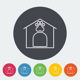 Kennel icon. Thin line flat vector related icon for web and mobile applications. It can be used as - logo, pictogram, icon, infographic element. Vector Stock Photo