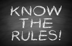 Kennen Sie die Regeln Lizenzfreie Stockbilder