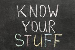 Kennen Sie Ihr Material Stockfotos