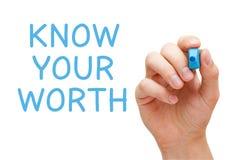 Kennen Sie Ihren Wert lizenzfreies stockbild