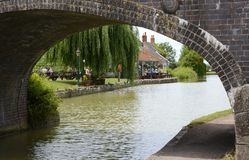 Kennet和Avon运河在Seend Devizes 英国 库存照片