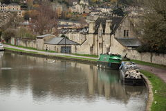 The Kennet and Avon Canal in Bath Royalty Free Stock Image