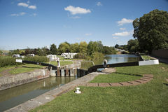 Kennet and Avon canal at Devizes UK stock image