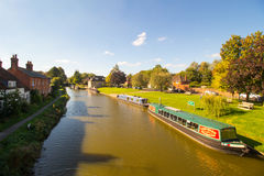 Kennet and Avon Canal in Hungerford is a historic market town and civil parish in Berkshire, England Stock Image