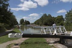 Kennet & Avon kanal Devizes England UK Arkivfoton
