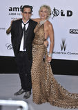 Kenneth Cole, Sharon Stone Royalty Free Stock Images