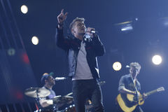 Kenneth Potempa. Performing at the Danish Song Contest 2012 Stock Photos