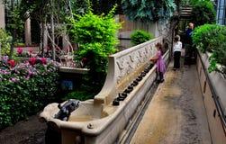 Kennett kwadrat, PA: Dzieci Odwiedza Longwood ogródy Obrazy Royalty Free