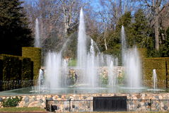 Kennett Square, PA: Longwood Gardens Fountains. 229 water jets comprise the spectacular Main Fountain Garden created in 1931 at Longwood Gardens in Kennett Stock Image