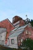 Kennicott矿腐朽的磨房大厦 图库摄影