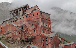 Kennicott Mine. Old ruins of a copper mine in Kennicott Alaska Stock Photos