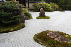 Kennin籍日本庭院在京都 库存图片