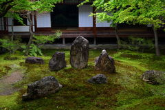 Kennin-ji japanese garden in Kyoto. Beautiful Kennin-ji japanese garden in Kyoto. It is considered to be one of the so-called Kyoto Gozan or five most important Royalty Free Stock Image