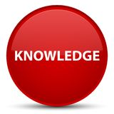 Kennis speciale rode ronde knoop Royalty-vrije Stock Fotografie