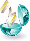 Kennis van glob Stock Foto