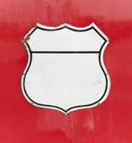 Kennsätze auf rotem Hintergrund Stockfoto