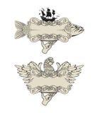 Kennsätze für Fleischfische und -geflügel Lizenzfreie Abbildung