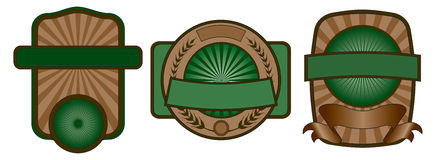 Kennsatz-Emblem-Set Lizenzfreie Stockfotos