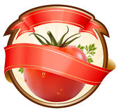 Kennsatz für ein Produkt mit Tomate. lizenzfreie abbildung