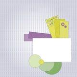 Kennsatz mit bunten Marken Lizenzfreie Stockfotografie