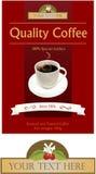 Kennsatz und Zeichen für Kaffeemarke Lizenzfreies Stockbild