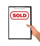 Kennsatz verkauft Stockfotografie