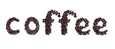 Kennsatzkaffee auf einem weißen Hintergrund Stockfotografie