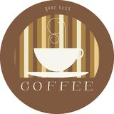 Kennsatzkaffeezeichen/-ikone stockfoto
