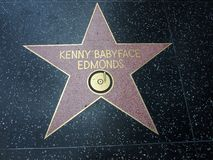 Kenny-'' Baby-Gesichtsstern in Hollywood lizenzfreie stockfotografie